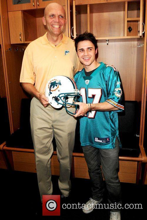Miami Dolphins CEO, Mike Dee and Kris Allen...