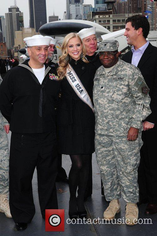 Miss USA 2009 Kristen Dalton visits the Intrepid...