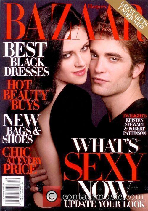 On the December 2009 cover of Harper's Bazaar...