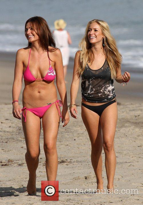 Films scenes for 'The Hills' on Malibu beach