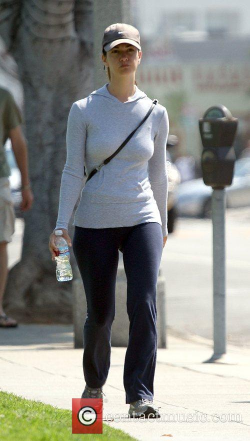 Kristin Davis  goes for a workout in...
