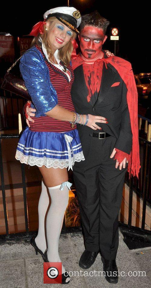 Brian Sweeney, Helen Dillon arrives to the Halloween...