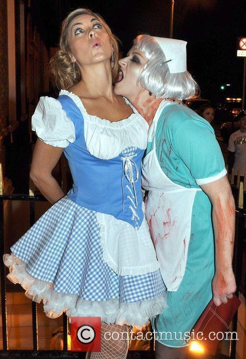 Kathryn Thomas, Lorraine Brennan arrives to the Halloween...