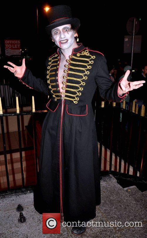 Ray Senior arrives to the Halloween Party at...
