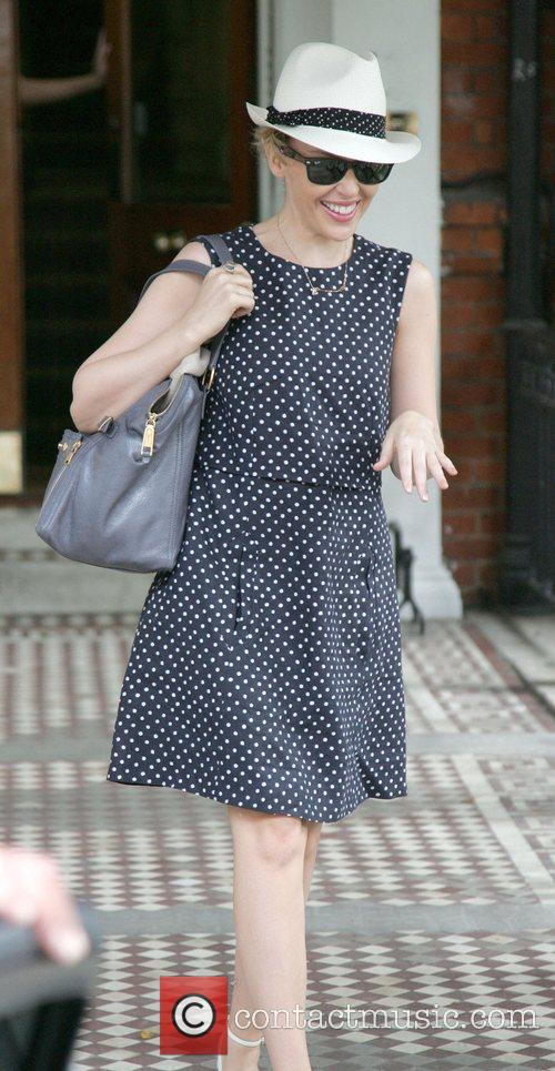 Leaving home in a polkadot dress and trilby...