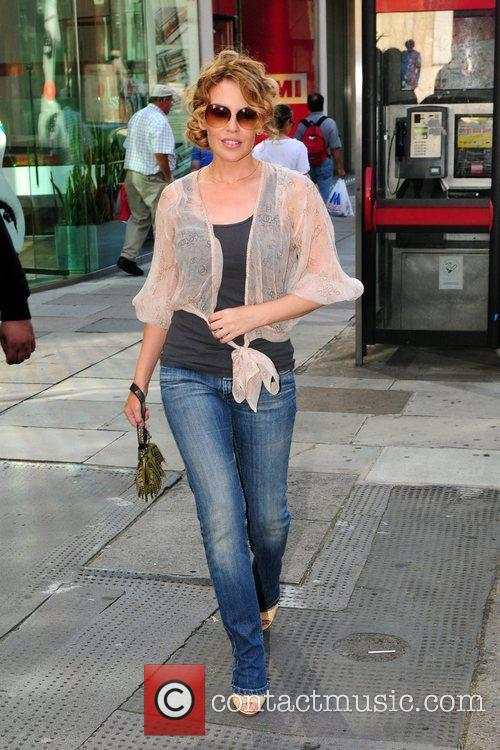 Kylie Minogue  leaving her record company EMI's...