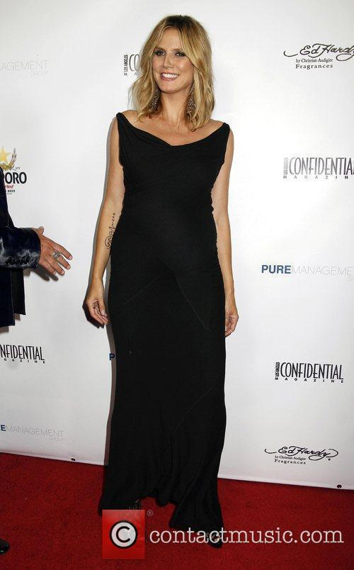 heidi klum la confidential magazine 39 s annual pre emmy party held at a private residence in bel. Black Bedroom Furniture Sets. Home Design Ideas