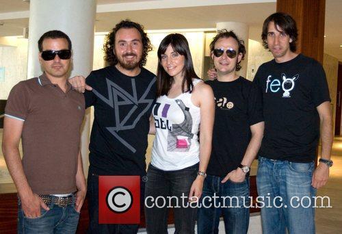 Rock group La Oreja de Van Gogh arrive...