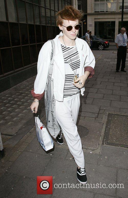 La Roux aka Elly Jackson leaving BBC Radio...