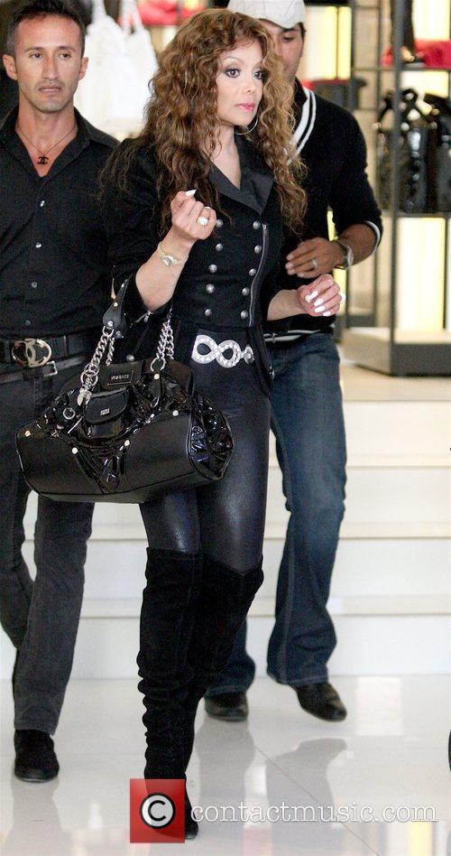 La Toya Jackson shopping at Chanel in West...