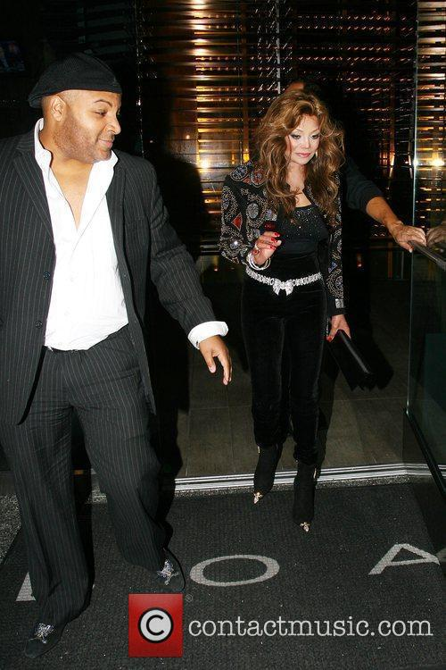 La Toya Jackson leaving Boa steakhouse in Beverly...