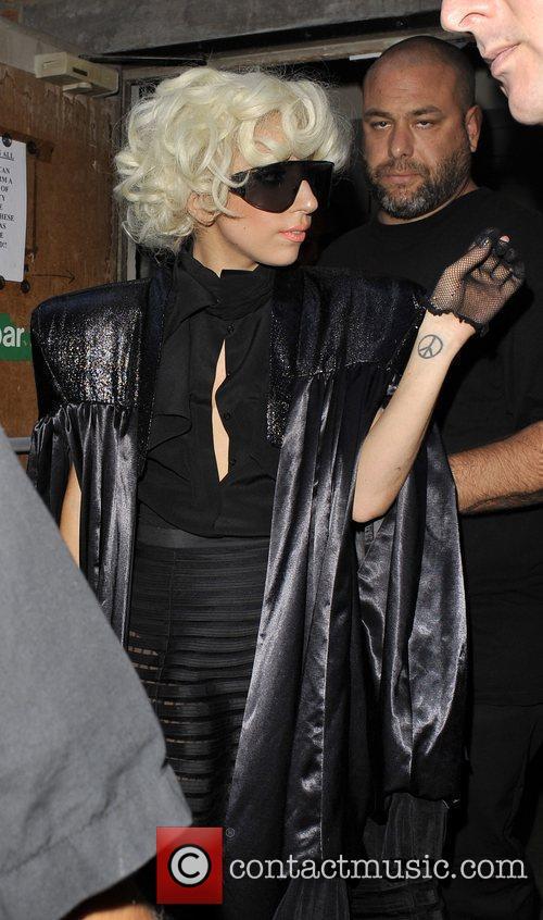 Lady Gaga leaving the HMV Store in Oxford...