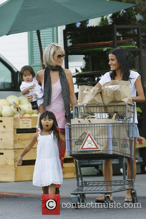 Shopping at Bristol Farms with her daughters Jade...