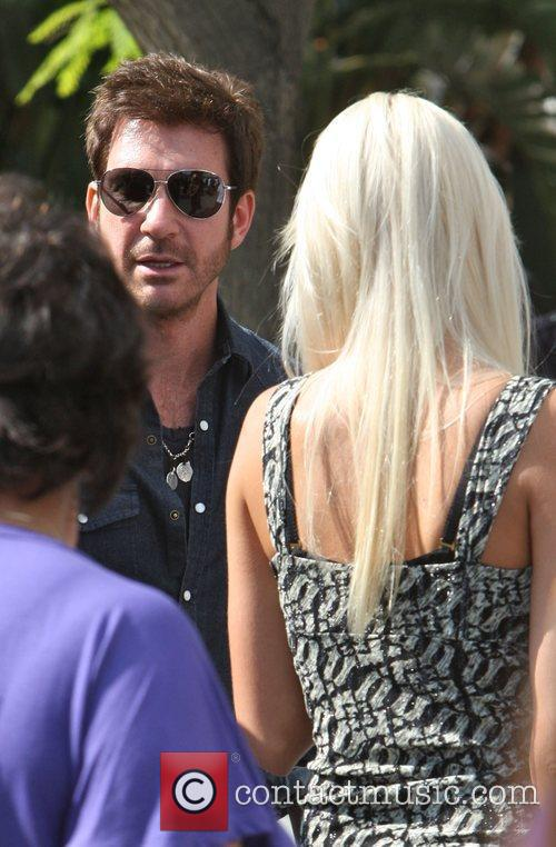 Dylan Mcdermott Arriving Amongst The Crowds Of Fans Coming To Watch The Second Finals Match Between Orlando Magic 1