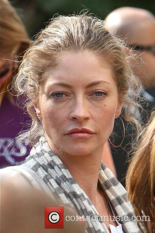Rebecca Gayheart Arriving Amongst The Crowds Of Fans Coming To Watch The Second Finals Match Between Orlando Magic 1