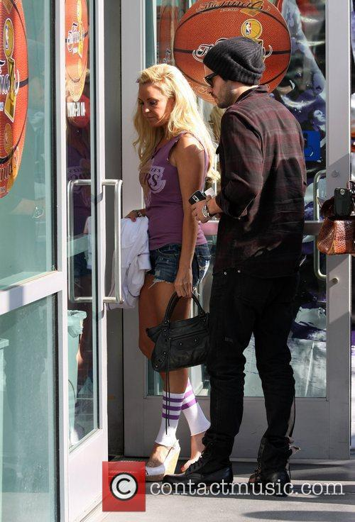 Bridget Marquardt, A Friend Arrive To Watch The Second Finals Match Between Orlando Magic and The Los Angeles Lakers 3