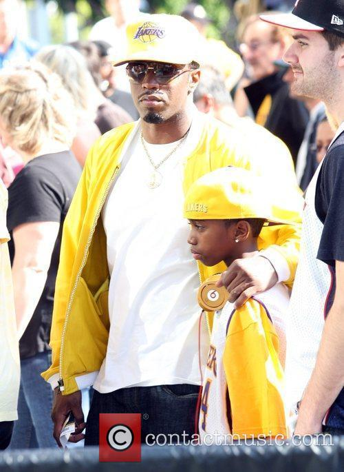 Sean Combs, Aka P Diddy, Arriving Amongst The Crowds Of Fans Coming To Watch The Second Finals Match Between Orlando Magic and The Los Angeles Lakers 8
