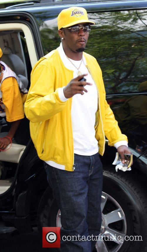 Sean Combs, Aka P Diddy, Arriving Amongst The Crowds Of Fans Coming To Watch The Second Finals Match Between Orlando Magic and The Los Angeles Lakers 10
