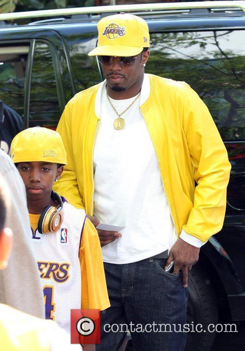 Sean Combs, Aka P Diddy, Arriving Amongst The Crowds Of Fans Coming To Watch The Second Finals Match Between Orlando Magic and The Los Angeles Lakers 7