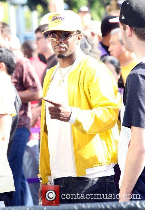 Sean Combs, Aka P Diddy, Arriving Amongst The Crowds Of Fans Coming To Watch The Second Finals Match Between Orlando Magic and The Los Angeles Lakers 9