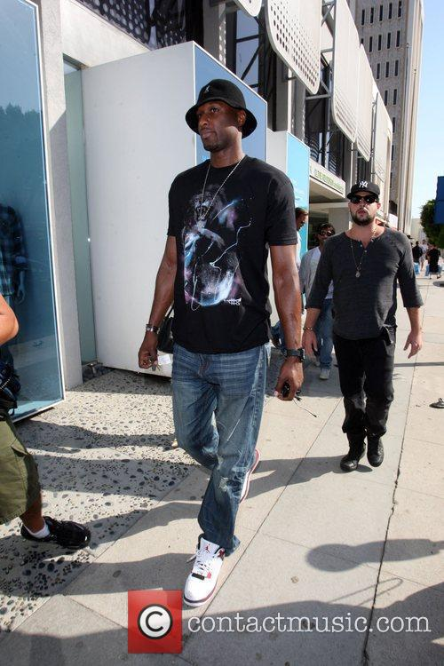 LA Lakers basketball star, Lamar Odom seen shopping...