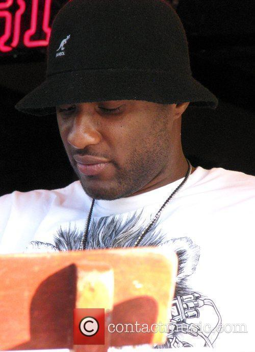 Lamar Odom has lunch with a friend at...