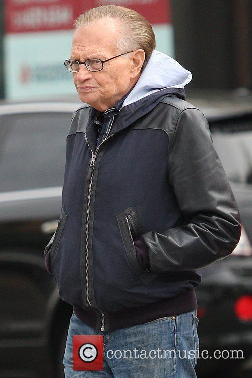 Larry King, Taking Some Time Off Promoting His New Book 'my Remarkable Journey' and Seen Leaving A Coffee Shop In Beverly Hills With Friends 4