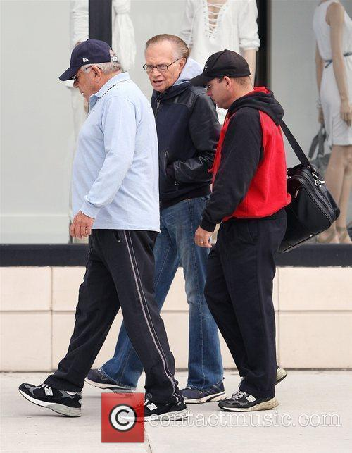 Larry King, Taking Some Time Off Promoting His New Book 'my Remarkable Journey' and Seen Leaving A Coffee Shop In Beverly Hills With Friends 5