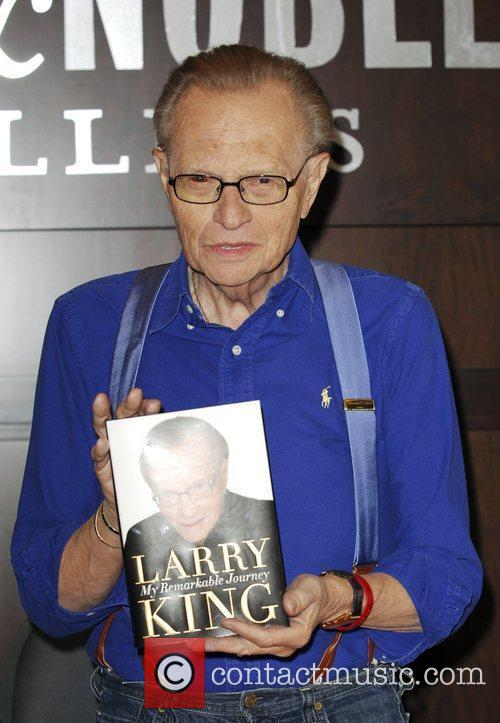 Larry King at the book signing of his...