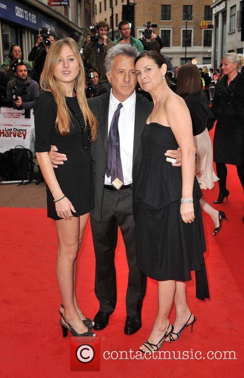 Dustin Hoffman with his wife Lisa Gottsegen and...