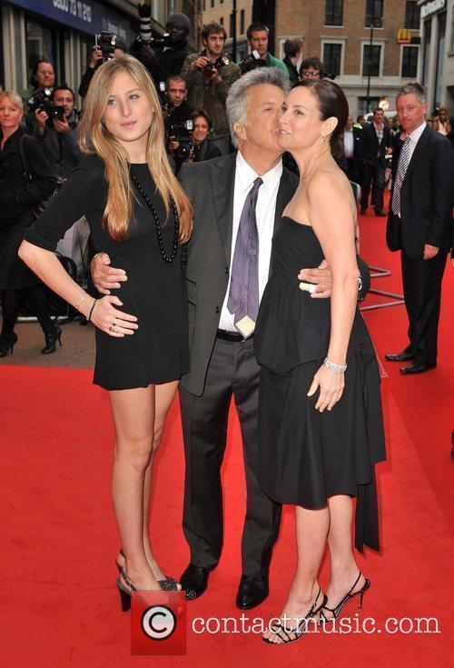 Dustin Hoffman with wife Lisa and daughter Alexandra...