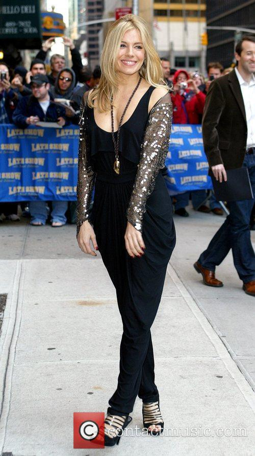Sienna Miller and David Letterman 8
