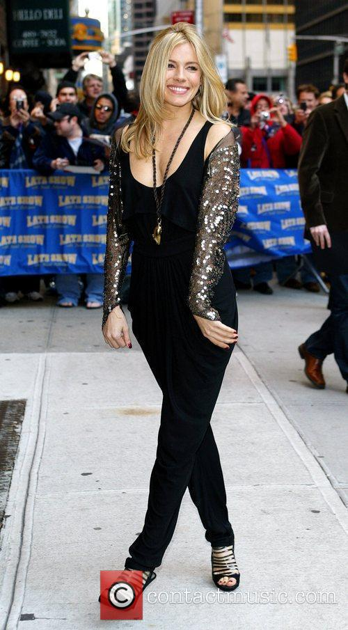 Sienna Miller and David Letterman 2