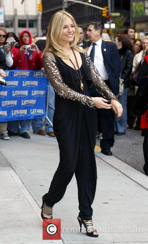 Sienna Miller and David Letterman 9