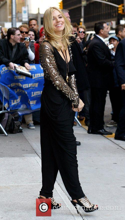 Sienna Miller and David Letterman 5