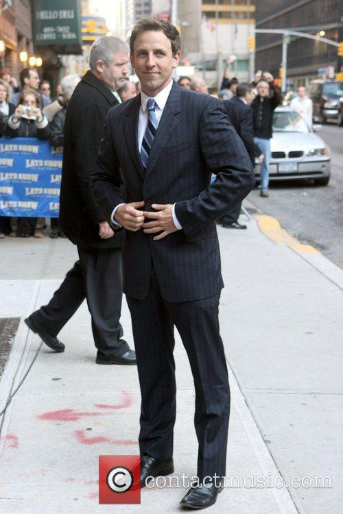 Seth Meyers and David Letterman 3