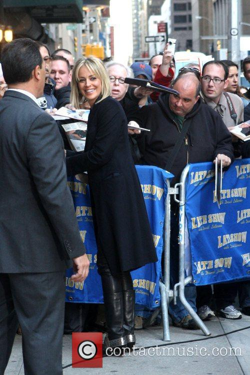 Sharon Stone and David Letterman 3