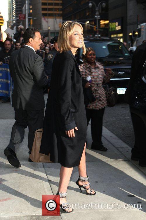 Sharon Stone and David Letterman 4