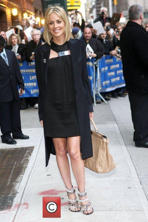 Sharon Stone, David Letterman