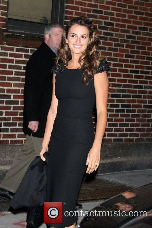 Penelope Cruz and David Letterman 2