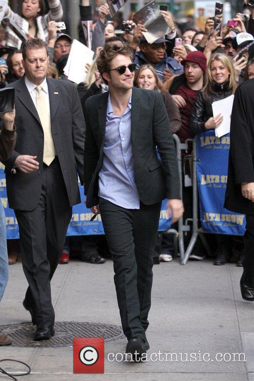 Robert Pattinson and David Letterman 8