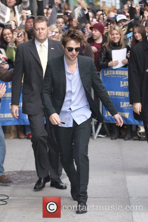 Robert Pattinson and David Letterman 2