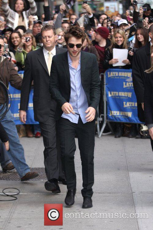 Robert Pattinson and David Letterman 11