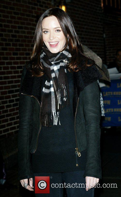 Emily Blunt and David Letterman 3