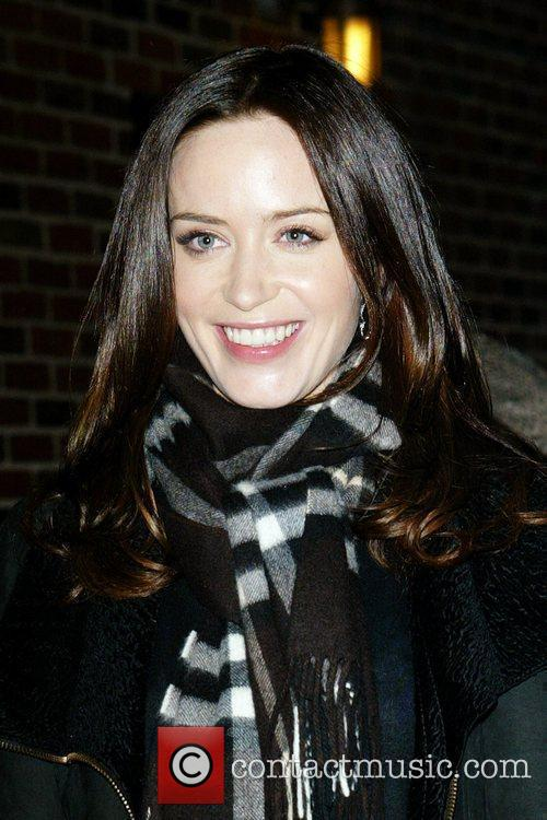 Emily Blunt and David Letterman 8