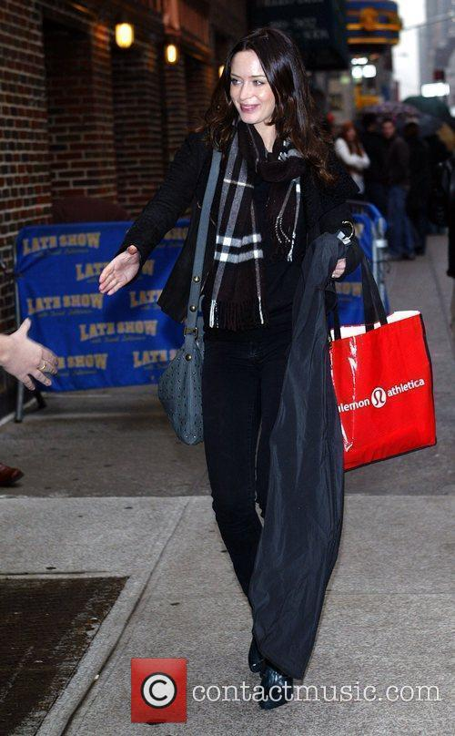 Emily Blunt and David Letterman 5