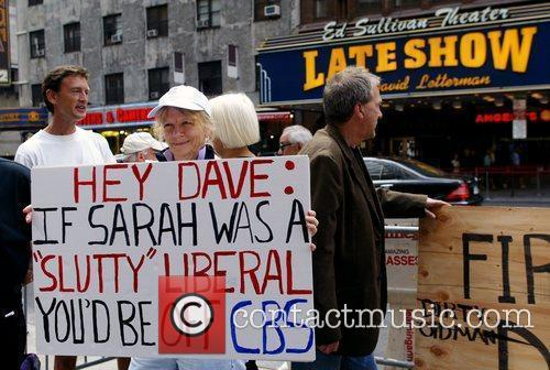 Protesters and David Letterman 4