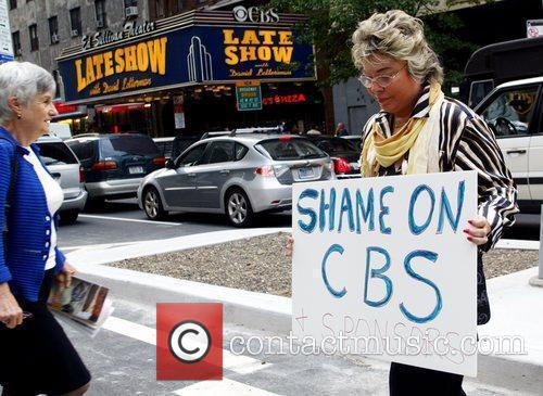 Protesters and David Letterman 6