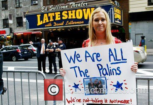 Protesters and David Letterman 3