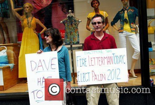 Protesters and David Letterman 8